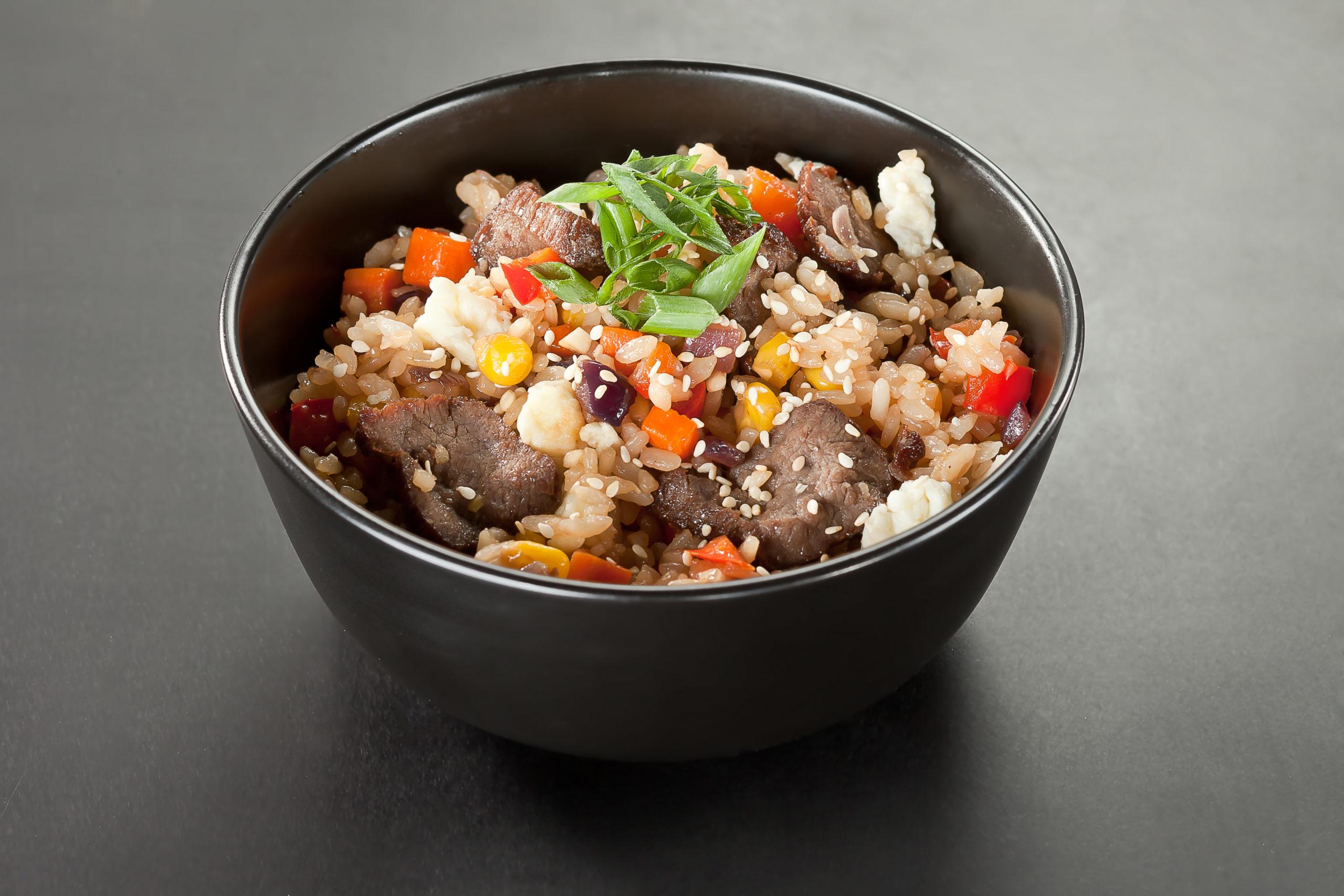 Рис с овощами и говядиной
